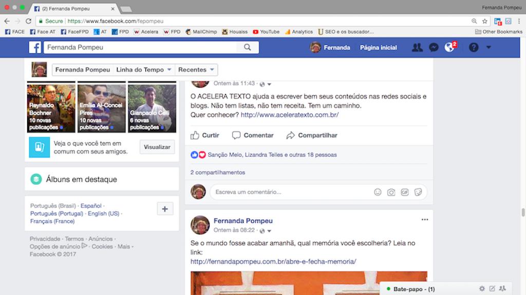 link no facebook
